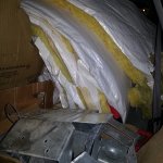 Full car load: Insulation + Simson Strong Ties