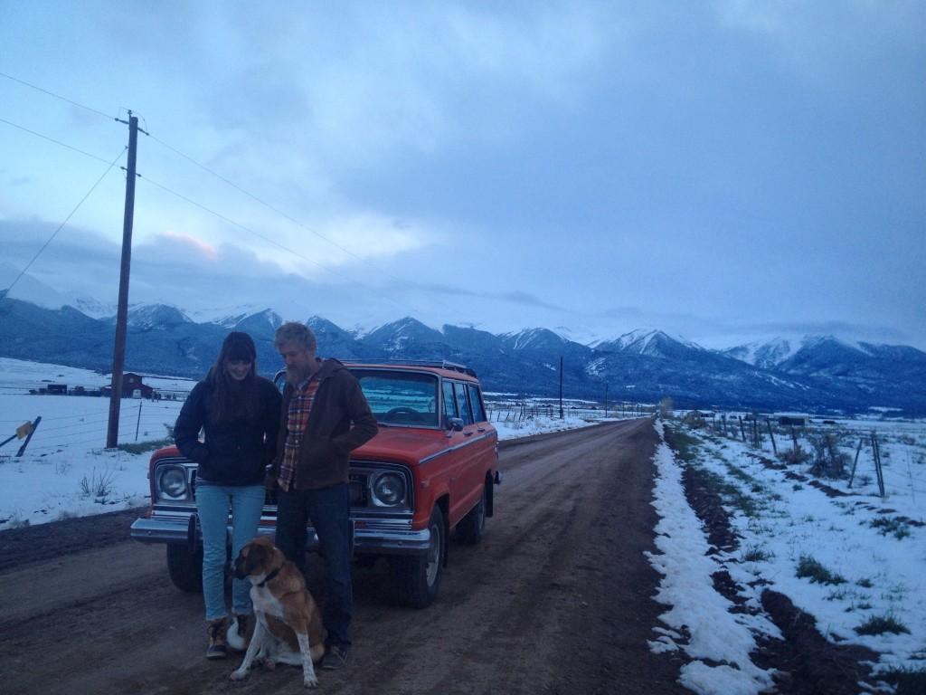 mountains.car.pooch.