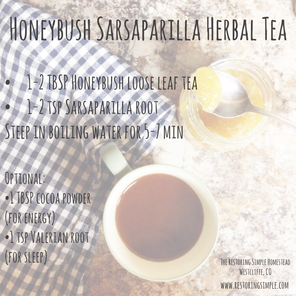 honeybush sarsaparilla herbal tea